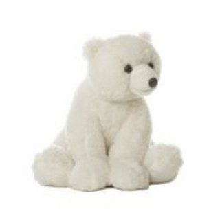 10in. White Bear Plush Toy by Aurora Toys & Games