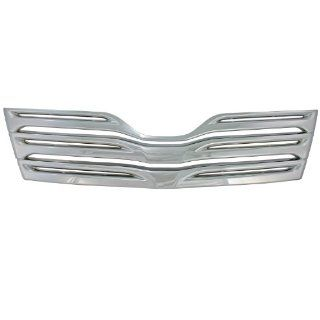 Bully GI 77A Triple Chrome Plated ABS Snap in Imposter Grille Overlay, 1 Piece Automotive