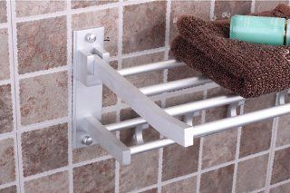 24'' Foldable aluminum towel rack Bath towel with hook bathroom dedicated   Towel Bars