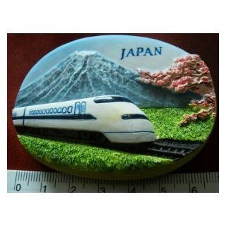 Japanese Bullet Train Mount Fuji Japan High Quality Resin 3D fridge Refrigerator Thai Magnet Hand Made Craft Kitchen & Dining