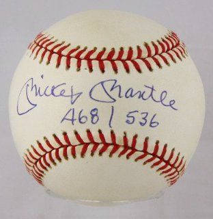 MICKEY MANTLE SIGNED AUTOGRAPHED OAL NEW YORK YANKEES BASEBALL BALL PSA/DNA 6704 at 's Sports Collectibles Store