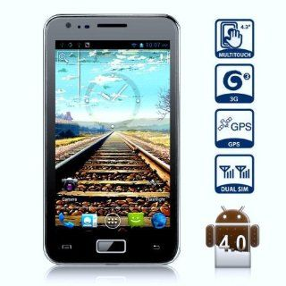 AP 810 Unlocked Quad Band Dual Sim Android 4.0.3 OS With 4.3 Inch Capacitive Touch Screen 3G Smart Phone   AT&T, T mobile, H20, Simple mobile and other GSM networks (Black) Cell Phones & Accessories