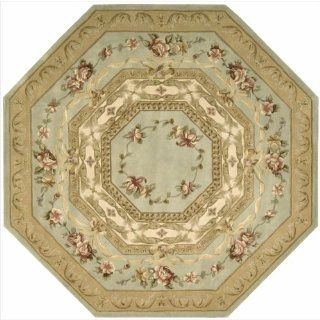 Versailles Palace VP1 Octagon Rug, Aqua, 6.0 Feet   Hand Tufted Rugs