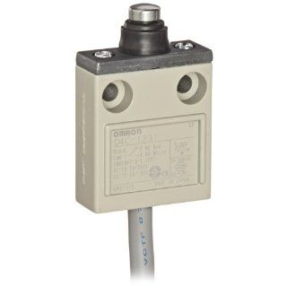 Omron D4C 1231 Compact Enclosed Limit Switch, Sealed Pin Plunger, VCTF Oil Resistant Cable, 5A at 250VAC and 4A at 30VDC Rated Current, 3m Cable Length Electronic Component Limit Switches