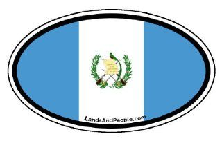 Guatemala Flag Car Bumper Sticker Decal Oval Automotive