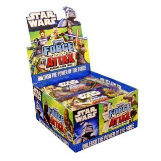 Star Wars Clone Wars Topps Force Attax Trading Card Game Booster Box 50 Packs Toys & Games