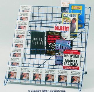 Fixturecraft Big Boy 8 Shelf Wire Book Display C798  Office Racks And Displays
