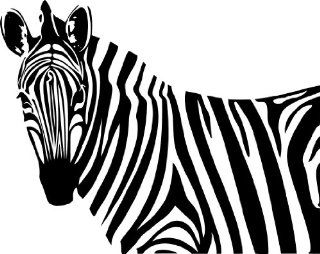 Zebra Style #1 Vinyl Wall Art Decal   Wall Decor Stickers