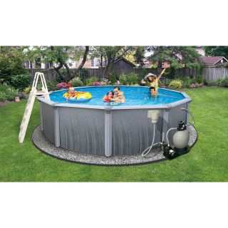 Swim Time Martinique 21 ft. Metal Wall Swimming Pool Package   Swimming Pools & Supplies