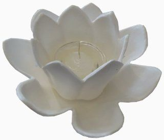 JED Pool Tools 90 807 W Floating Lotus Candle Holder, White  Patio, Lawn & Garden