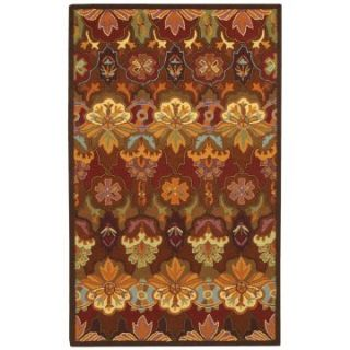 Couristan Applique Orange Blossom Multi Area Rug   Area Rugs