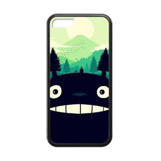 Custom Cartoon & Anime Series My Neighbor Totoro Rubber Case for Iphone 5C Cell Phones & Accessories
