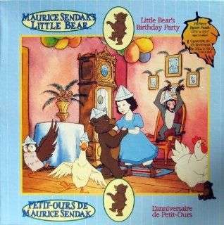 "Maurice Sendak's   LITTLE BEAR   Little Bear's Birthday Party   15 Piece Jigsaw Puzzle   11.5"" x 13.5"" Toys & Games"