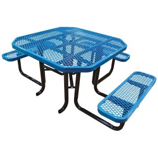 Leisure Craft Commercial Octagonal Expanded Accessible Picnic Table   Picnic Tables