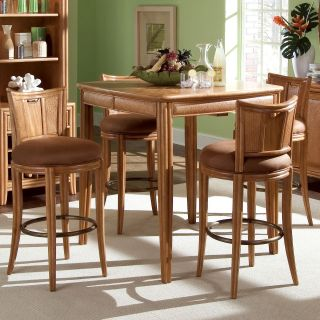 American Drew Antigua 5 pc. Pub Table Set with Swivel Stools   Pub Tables