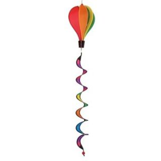 In the Breeze Mini Rainbow Hot Air Balloon Wind Spinner   Wind Spinners