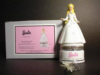 Holiday Barbie with Star Ornament PHB Porcelain Hinged Trinket Box with Star Trinket (PHB)   Decorative Hanging Ornaments
