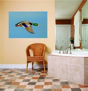 SCHOOL CLASSROOM Flying Duck Geese Kids Boy Girl Sticker Picture Art Graphic Design Image Mural Vinyl Wall   Best Selling Cling Transfer Decal Color 796 Size  30 Inches X 50 Inches   22 Colors Available   Wall Decor Stickers
