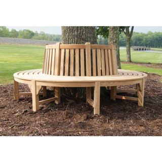 Jewels of Java Teak Tree Bench Section   Outdoor Benches