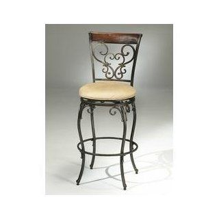 Knightsbridge Swivel Counter Stool with Wood/Metal Back   Hillsdale Furniture   4940 826   Barstools With Backs