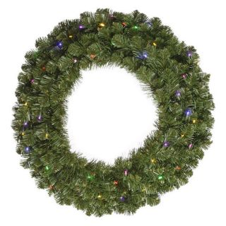 Vickerman 120 in. Pre Lit LED Grand Teton Wreath   Multi Colored   Christmas Wreaths