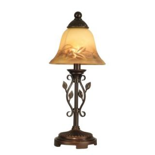 Dale Tiffany Leaf Vine Hand Painted Mini Lamp   Table Lamps