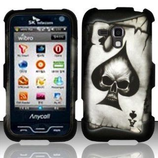 Bundle Accessory for Samsung Galaxy Rush M830   Spade Skull Designer Hard Case Protector Cover + Lf Stylus Pen + Lf Screen Wiper Cell Phones & Accessories