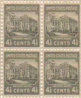 The White House Set of 4 x 4.5 Cent US Postage Stamps NEW Scot 809