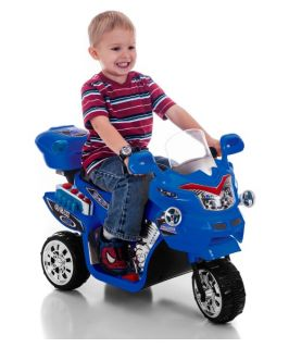 Lil Rider FX 3 Wheel Motorcycle Bike Battery Powered Riding Toy   Blue   Battery Powered Riding Toys