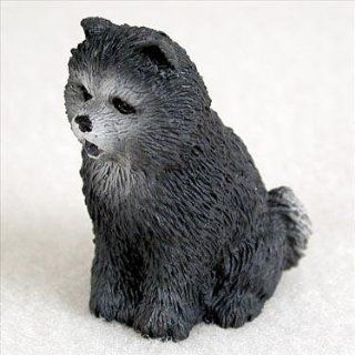 Chow Chow Miniature Dog Figurine   Blue   Collectible Figurines