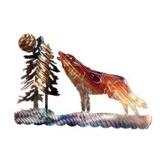 Next Innovations WA3DHOWLWOLF Howling Wolf Refraxions 3D Wall Art  Wind Sculptures  Patio, Lawn & Garden