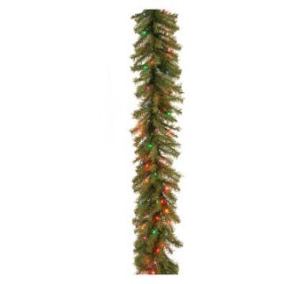 9 ft. Norwood Fir Pre Lit Garland   Mutli Colored   Christmas Garland