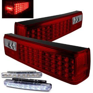 Rxmotoring 1993 Ford Mustang Led Tail Brake Light With Drl 8 L.E.D Bumper Fog Lamp Automotive