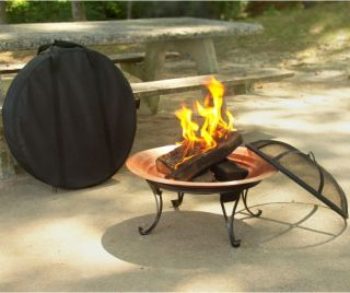 Portable Folding 26 in. Fire Pit   Fire Pits