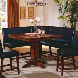 Steve Silver Plato 4 Piece Counter Height Nook Dining Table Set   Dining Table Sets