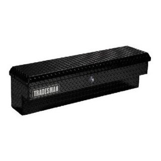 Tradesman 60 in. Aluminum Side Bin Push Button Truck Tool Box   Black   Truck Tool Boxes