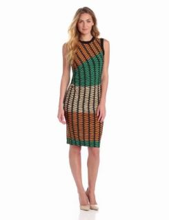 Julian Taylor Women's Side Gather Print Dress, Emerald Multi, 6 Missy