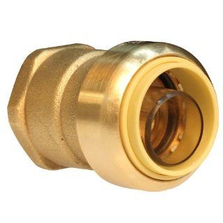 Push Connect PC842F 1/2 Inch Push by 3/4 Inch FNPT, Brass Push Fit Straight Female Coupling   Pipe Fittings