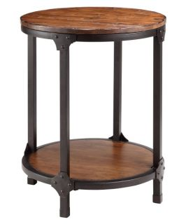 Stein World 12356 Kirstin Round Wood and Metal End Table   End Tables
