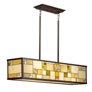 Kichler 65338 Riverview Tiffany 4 Light Island Pendant   10W in. Olde Bronze   Tiffany Ceiling Lighting