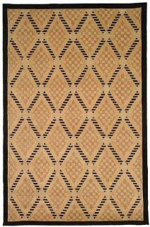 Safavieh Tibetan Collection TB273A Black and Gold Hand Knotted Wool and Silk Area Runner, 2 Feet 6 Inch by 12 Feet   Area Rugs