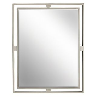 Hendrik Brushed Nickel Wall Mirror   24W x 30H in.   Wall Mirrors