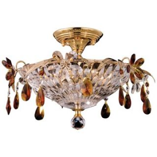 Dale Tiffany Marston Semi Flush Mount Light   Tiffany Ceiling Lighting