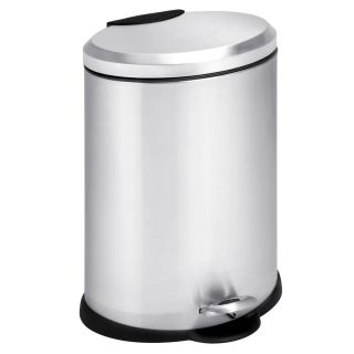 Honey Can Do Oval Stainless Steel Step 3 Gallon Trash Can   Kitchen Trash Cans