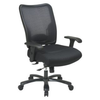 Office Star Double AirGrid Back and Black Mesh Seat Ergonomic Chair   Desk Chairs
