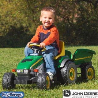 Peg Perego John Deere Farm Tractor & Trailer Pedal Riding Toy   Pedal & Push Riding Toys