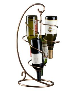 Oenophilia Copper Tendril 4 Bottle Table Top Wine Rack   Wine Racks