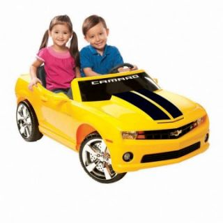 Kid Motorz Chevrolet Racing Camaro Battery Powered Riding Toy   Yellow   Battery Powered Riding Toys