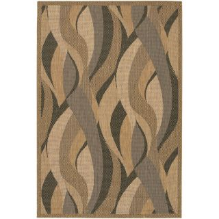 Couristan Recife Seagrass Indoor/Outdoor Area Rug   Natural/Black   Area Rugs