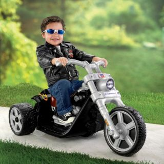 Fisher Price Power Wheels Harley Motorcycle Battery Powered Riding Toy   Black   Battery Powered Riding Toys